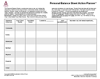 Personal Balance Sheet Action-Planner